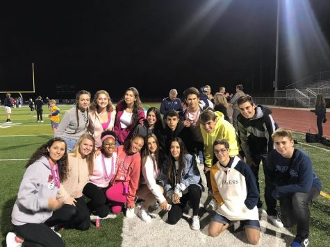 Marist students and their Spanish exchange students after the football win against Denmark!