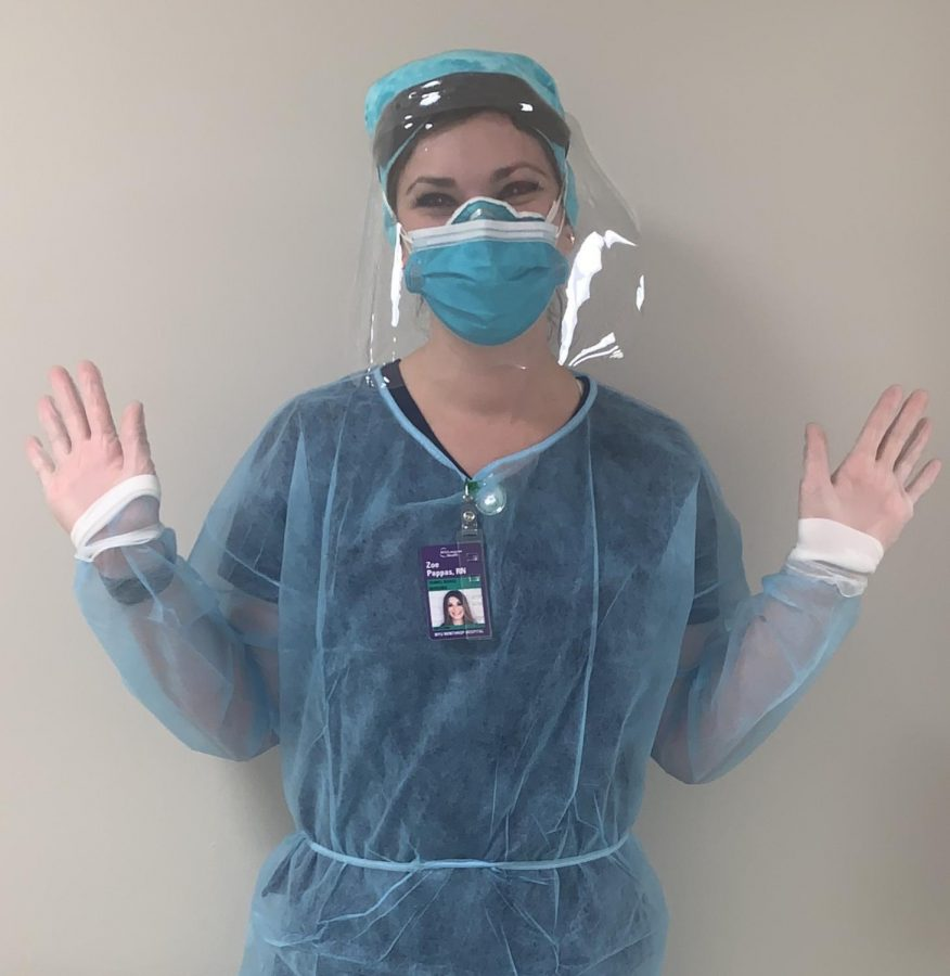 Nurse+Zo%C3%AB+Pappas+wearing+her+personal+protective+equipment.