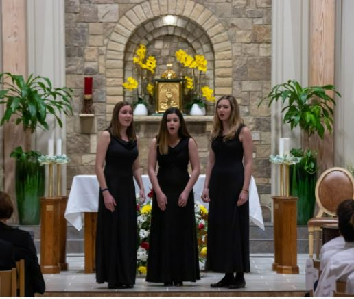 The Trio performs at the Sacred Concert in February 2020.