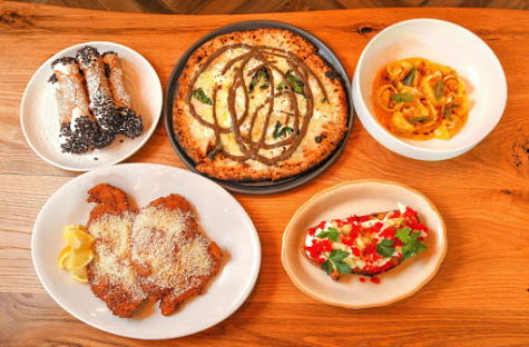 An assortment of Italian food offered at Grana.