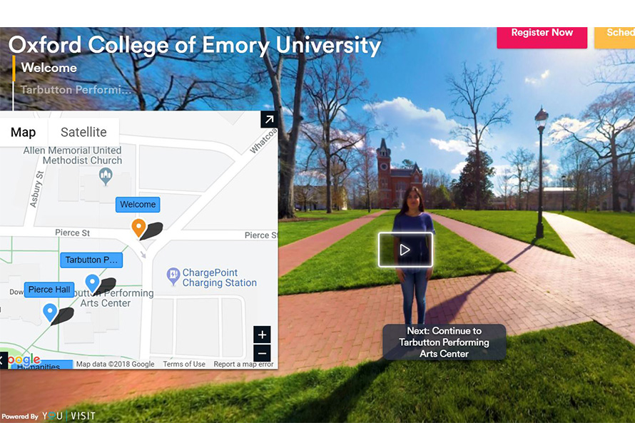 A virtual, student-led college tour of Emory University in Atlanta.
